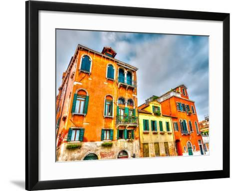 Beautiful Buildings at Venice Italy. HDR Processed-imagIN photography-Framed Art Print