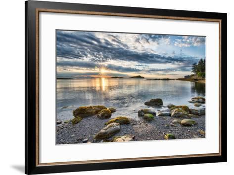 Coastal Sun Star with Rocks- james_wheeler-Framed Art Print