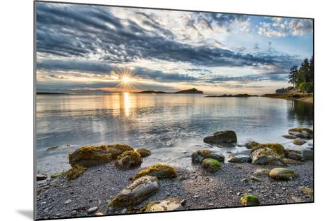 Coastal Sun Star with Rocks- james_wheeler-Mounted Photographic Print