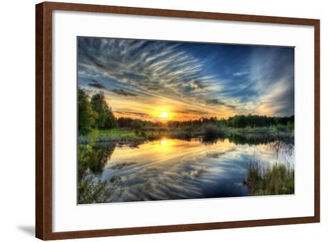 Sunset in HDR- dennisjacobsen-Framed Art Print