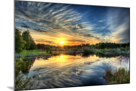 Sunset in HDR- dennisjacobsen-Mounted Photographic Print
