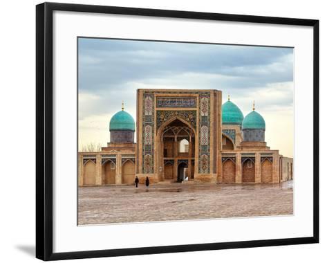 Hast Imam Square (Hazrati Imam) is a Religious Center of Tashken- barelko com-Framed Art Print