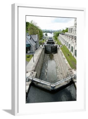 Rideau Canal Locks - Ottawa- adwo-Framed Art Print