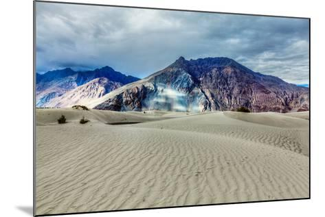 Sand Dunes in Himalayas. Hunder, Nubra Valley, Ladakh-f9photos-Mounted Photographic Print