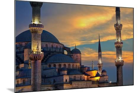 Blue Mosque at Sunset-EvanTravels-Mounted Photographic Print