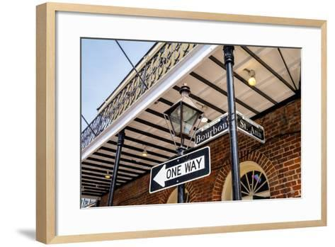 Bourbon Street Sign-Fotoluminate LLC-Framed Art Print