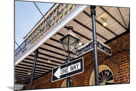 Bourbon Street Sign-Fotoluminate LLC-Mounted Photographic Print