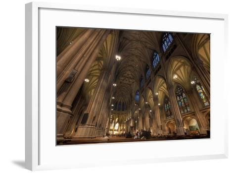 Interior of St Patrick's Cathedral, Manhattan-EvanTravels-Framed Art Print