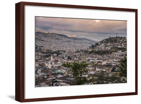 Tramonto a Quito-tommypic-Framed Art Print