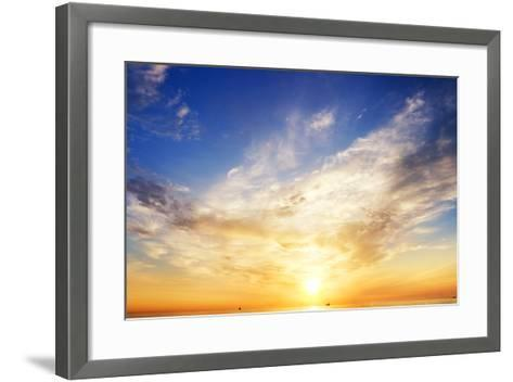 Sky Background and Water Reflection.-Andrii Salivon-Framed Art Print
