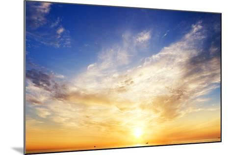 Sky Background and Water Reflection.-Andrii Salivon-Mounted Photographic Print