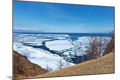 Lake Baikal in Spring. Top View of the Ice Drift-katvic-Mounted Photographic Print