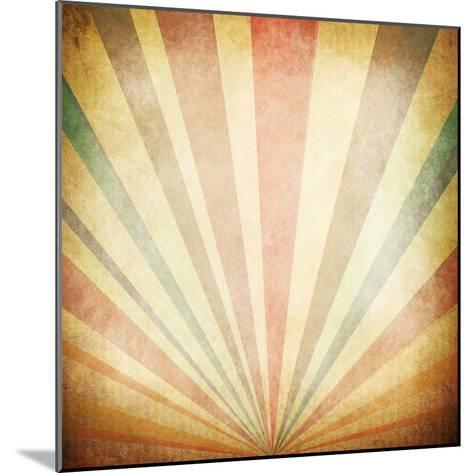 Vintage Sunbeams Background- oly5-Mounted Photographic Print