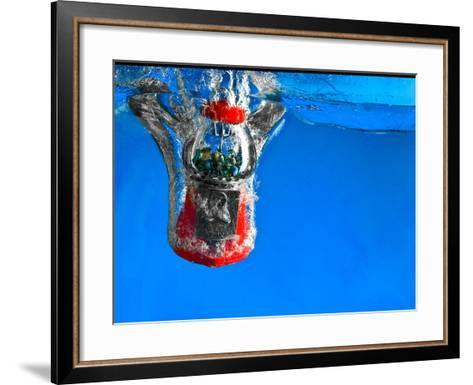 Gumball Machine Dropping into Water-EvanTravels-Framed Art Print