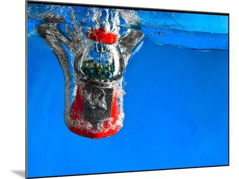Gumball Machine Dropping into Water-EvanTravels-Mounted Photographic Print