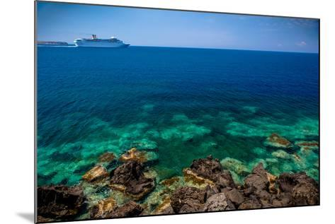 Cruise Ship beyond Reef-EvanTravels-Mounted Photographic Print