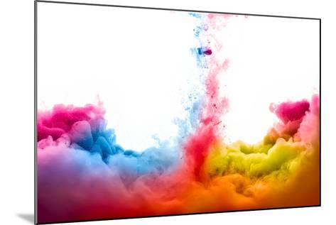 Raoinbow of Acrylic Ink in Water. Color Explosion-Casther-Mounted Photographic Print