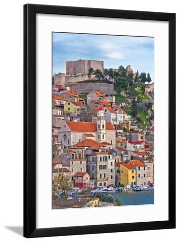 Adriatic Town of Sibenik Waterfront-xbrchx-Framed Art Print