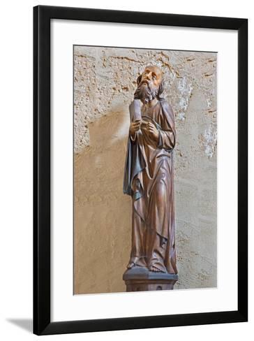 The Gothic Carved Satue of Apostle Matthew-Ren?ta Sedm?kov?-Framed Art Print