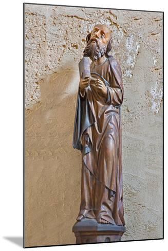 The Gothic Carved Satue of Apostle Matthew-Ren?ta Sedm?kov?-Mounted Photographic Print