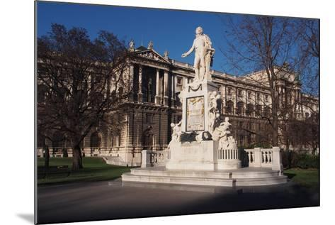 Statue of Mozart in Burggarten in Vienna-salparadis-Mounted Photographic Print