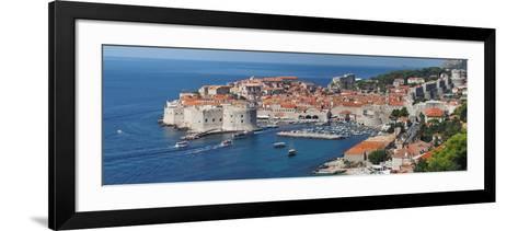 Dubrovnik, Croatia, Panorama of the Medieval City- frederic49-Framed Art Print