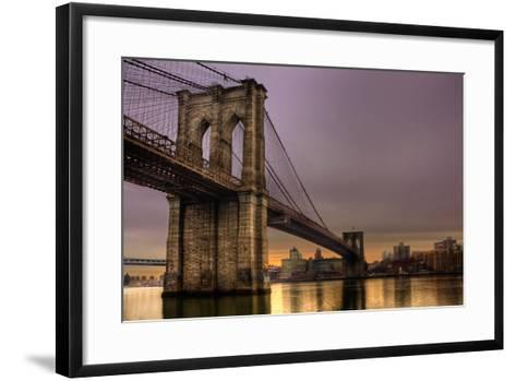 Brooklyn Bridge - New York City, Ny, USA-EvanTravels-Framed Art Print