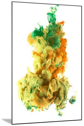 Ink Color Drop, Yellow Orange Green-sanjanjam-Mounted Photographic Print