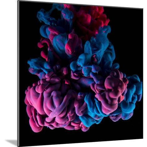 Ink Color Drop, Violet and Pink on Black Background-sanjanjam-Mounted Photographic Print