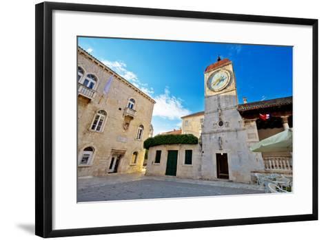 UNESCO Town of Trogir Square-xbrchx-Framed Art Print