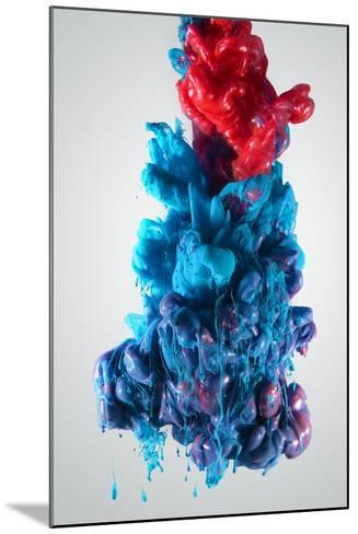Ink Color Drop, Blue and Red-sanjanjam-Mounted Photographic Print