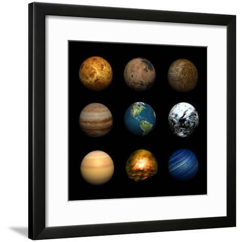 Planets-Stephen Coburn-Framed Art Print
