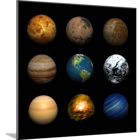 Planets-Stephen Coburn-Mounted Photographic Print