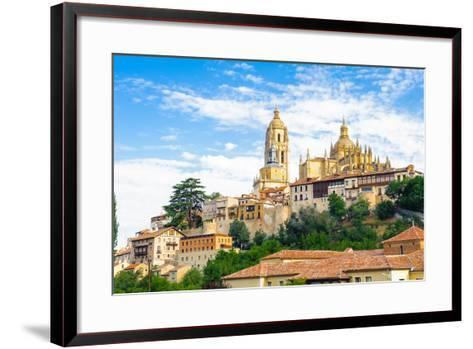 Old Town of Segovia and its Aqueduct. UNESCO World Heritage-siempreverde22-Framed Art Print