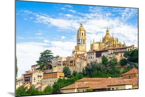 Old Town of Segovia and its Aqueduct. UNESCO World Heritage-siempreverde22-Mounted Photographic Print