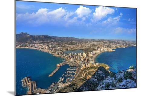 Calpe Town Coastline and Marina- Lledó-Mounted Photographic Print