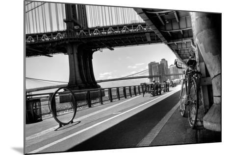 Manhattan Waterfront Bike Path B&W-EvanTravels-Mounted Photographic Print