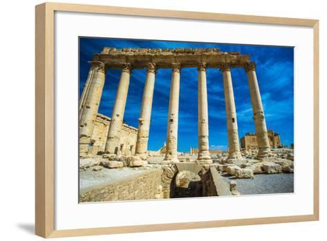 Great Ruins of Palmyra, Syria. UNESCO World Heritage-siempreverde22-Framed Art Print