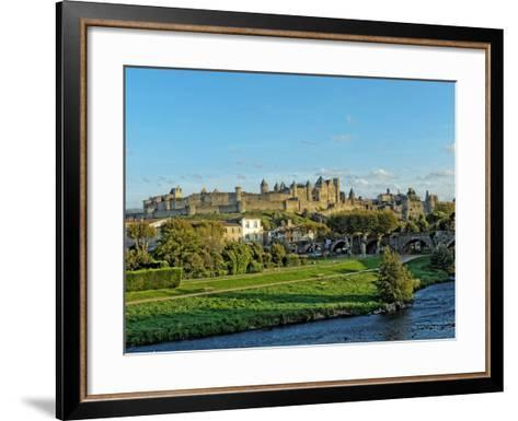 HDR of Carcassonne Fortified Town , France- frederic49-Framed Art Print