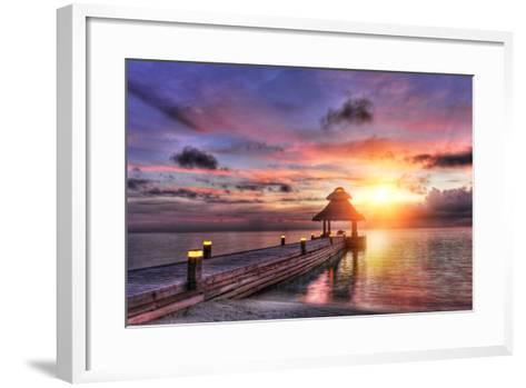 Sunset in the Paradise-Fyle-Framed Art Print