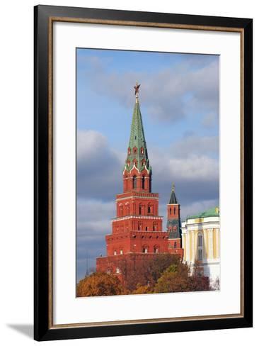 Moscow Kremlin. UNESCO World Heritage Site.-Ekaterina Bykova-Framed Art Print