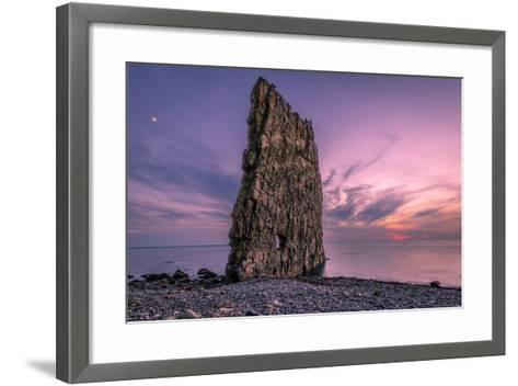 Amazing Sunset near Sail Rock in Russia-mkolesnikov85-Framed Art Print