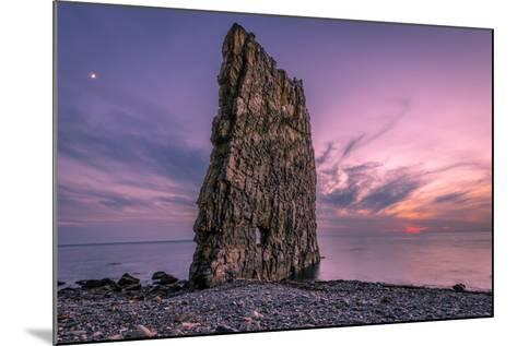 Amazing Sunset near Sail Rock in Russia-mkolesnikov85-Mounted Photographic Print