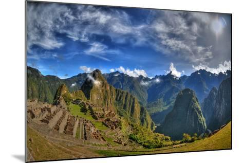 Sun Rise over the Incan Lost City of Machu Picchu - HDR Photo- aharond-Mounted Photographic Print