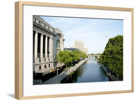 Rideau Canal - Ottawa- adwo-Framed Art Print
