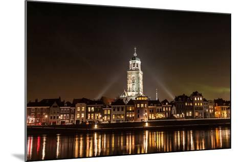 Deventer at Night View from the Other Side of the Ijssel- erpeewee-Mounted Photographic Print