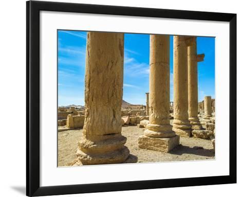 Columns of the Roman Ruins of Palmyra, Syria-siempreverde22-Framed Art Print