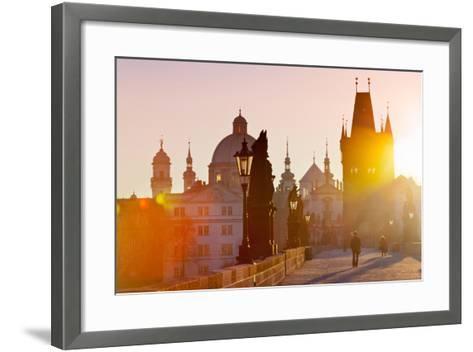 Charles Bridge, Old Town, Prague (Unesco), Czech Republic-kaprikfoto-Framed Art Print