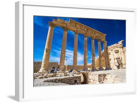 Roman Ruins of Palmyra, Syria.-siempreverde22-Framed Art Print