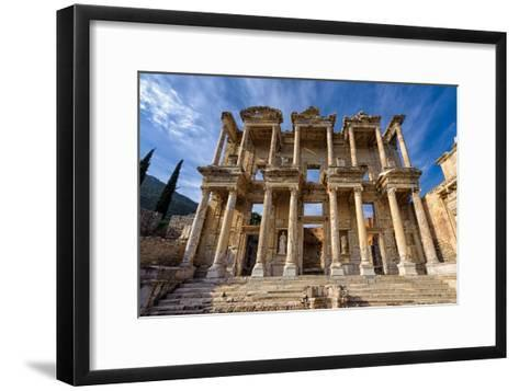 Library of Celsus-salparadis-Framed Art Print